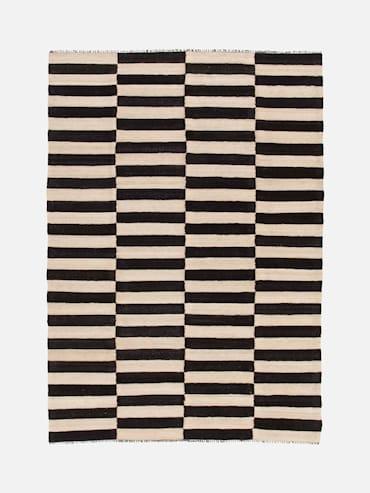 Kelim Svart/Vit 161x230 cm