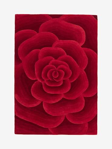 Rose Röd 160x230 cm