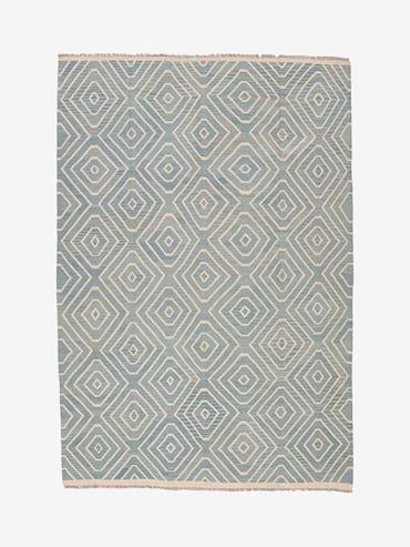 Kelim Blå/grå 205x306 cm