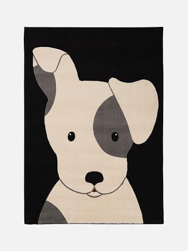 Hund Svart 120x170 cm