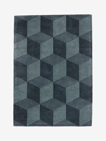 Square Blå 160x230 cm